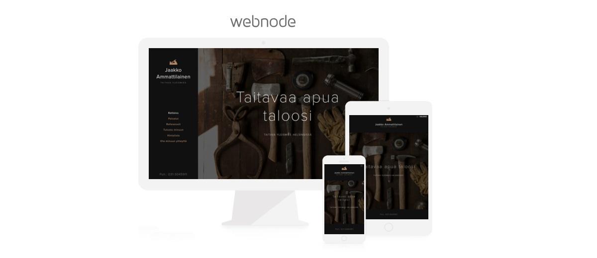 Käyttäjillä on hyviä kokemuksia Webnode verkkosivutyökalusta.