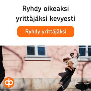 OP kevytyrittäjä banneri mobiili